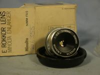 '  50mm -MINT- ' Minolta E Rokkor 50MM 4.5 Enlarger Lens Cased Boxed  £14.99
